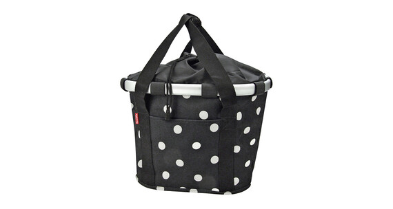 KlickFix Reisenthel Bikebasket black dots